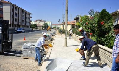Karaman Belediyesi'nin Asfalt ve Kaldırım Çalışması