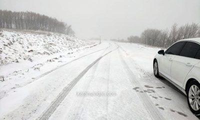 Karaman'a yılın ilk karı yağdı