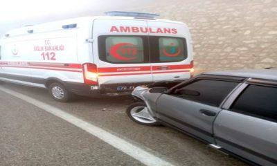 Karaman'da ambulans kaza yaptı