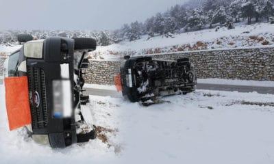 Karaman'da Servis Devrildi Yaralılar Var