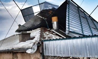Karaman'da Çatılar Birbiri Üzerine Uçtu