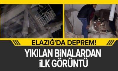 Elazığ Depreminden İlk Görüntüler Video