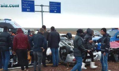 Konya'da Feci Trafik Kazası 1 ölü, 8 yaralı