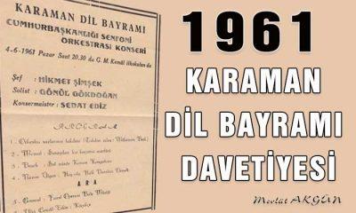 1961 Karaman Dil Bayramı Davetiyesi