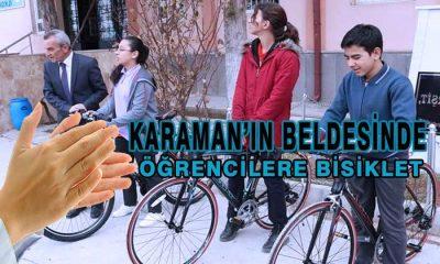 Karaman'da Öğrencilere Bisiklet Hediye Edildi