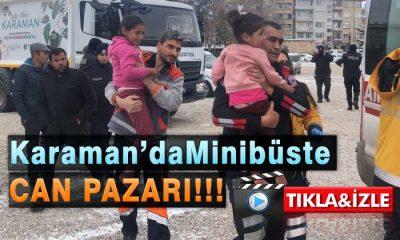 Karaman'da Minübüs Yandı! Can Pazarı Yaşandı!