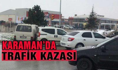 Karaman'da Trafik Kazası!
