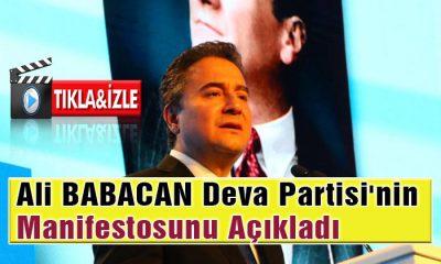 Ali BABACAN DEVA Partisinin Manifestosunu Açıkladı