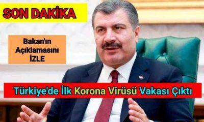 Türkiye'de İlk Korona Virüsü Vakası İşte Detaylar
