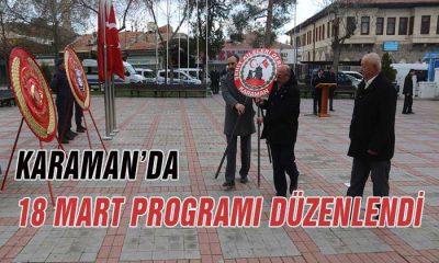 Karaman'da 18 Mart Programı Düzenlendi