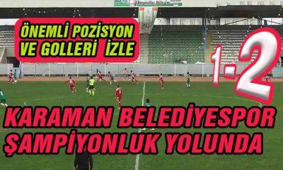 Karaman Belediyespor Şampiyonluk Yolunda 2-1 Kazandı