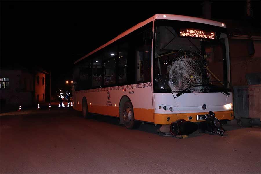 Karaman'da Otobüs Bisikletli Çocuğa Çarptı