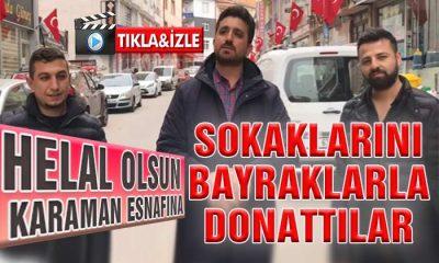 Helal Olsun Esnafa! Sokaklarını Bayraklarla Donattılar