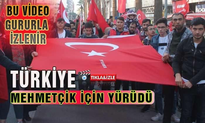 Gururla İzleyeceğiniz Video Türkiye Mehmetçik İçin Yürüdü
