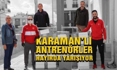 Karamanlı Antrenörler Hayırda Yarışıyor