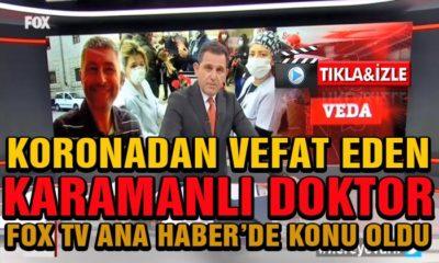 Koronadan Vefat Eden Hemşehrimiz FOX Tv Ana Haberde