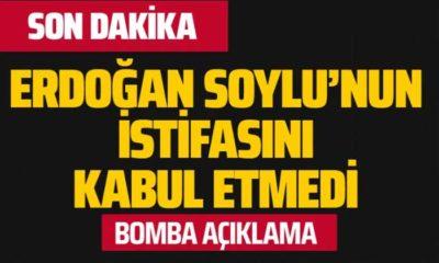 Cumhurbaşkanı Süleyman Soylu'nun İstifası Kabul Etmedi