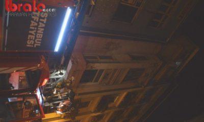 Taksim'deki bir binada çıkan yangında mahsur kalan 9 kişi kurtarıldı
