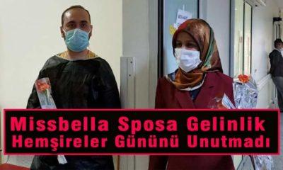 Missbella Sposa Gelinlik Karaman'daki Hemşireleri Unutmadı