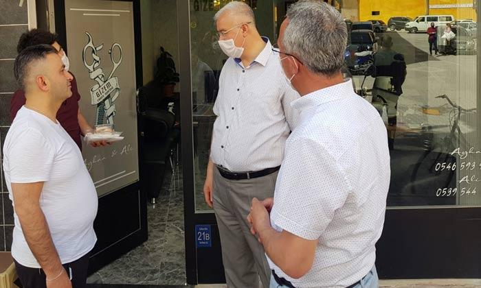 İl Başkanı Çağlayan Berber ve Kuaförleri Ziyaret Etti