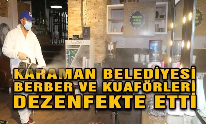 Karaman Belediyesi İşyerlerini Dezenfekte Etti