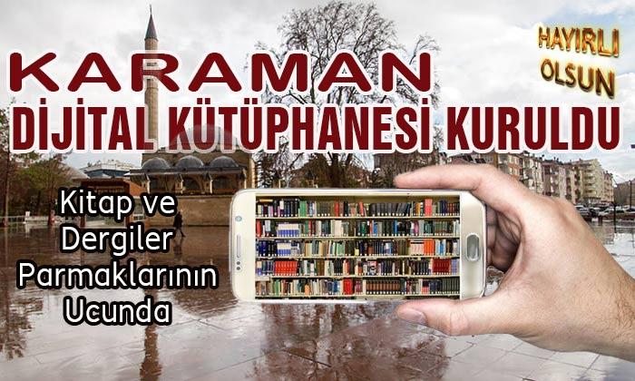 Karaman Dijital Kütüphanesi Kuruldu