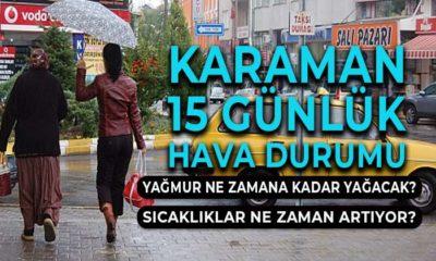 Karaman'ın 15 Günlük Hava Durumu Bütün Detaylar