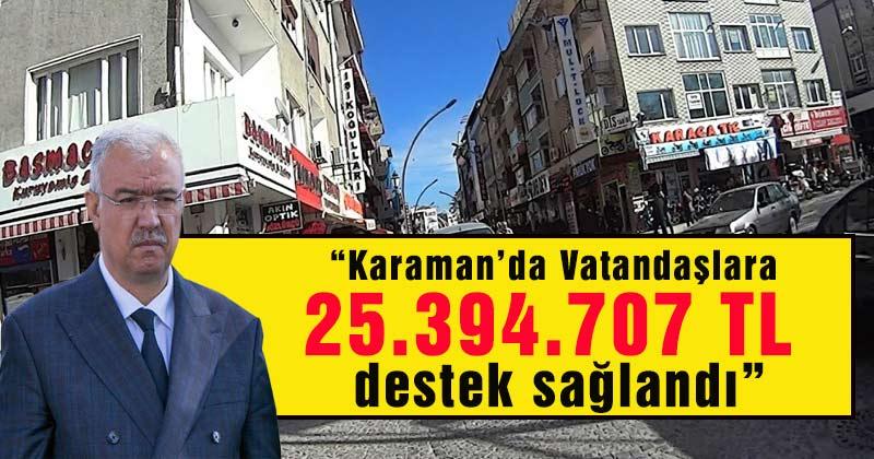 Karaman'da Korona Sürecinde Yapılan Desteği Açıkladı