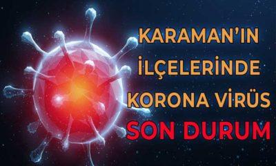 Karaman'ın İlçelerinde Korona Virüste Son Durum
