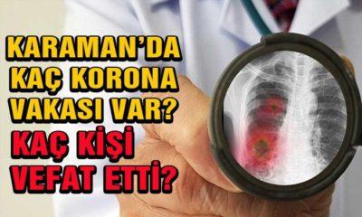 Karaman'da Kaç Korona Vakası var? Kaç Kişi Vefat Etti?