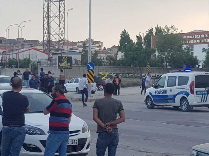 Karaman'da Hareketli Akşam! İki Grup Birbirine Girdi!