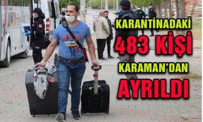Karantinadaki 483 Kişi Karaman'dan Ayrıldı