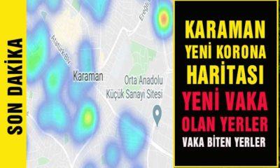 Karaman Korona Haritası Güncellendi! Yeni Vaka Olan Yerler