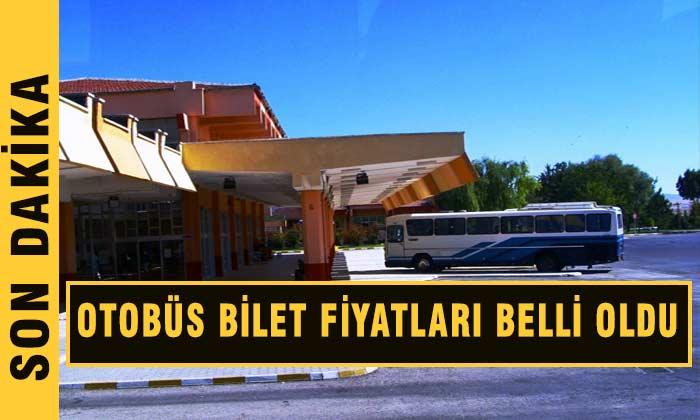 Otobüs Bilet Fiyatları Belli Oldu