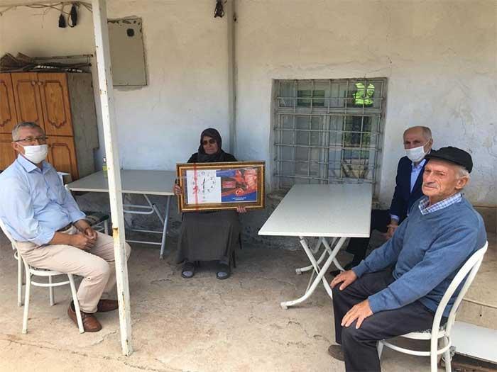 Karaman'da Şehit Aileleri Ziyaret Edildi