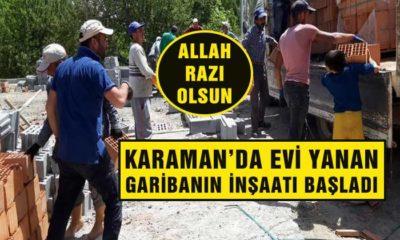 Karaman'da Evi Yanan Hemşehrimizin Yüzü Gülecek İnşalllah