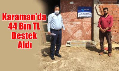 Karaman'da 44 Bin TL Destek Aldı