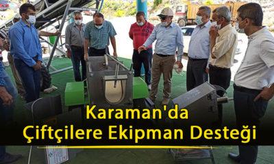 Karaman'da Çiftçilere Ekipman Desteği
