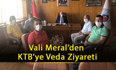 Vali Meral'den KTB'ye Veda Ziyareti