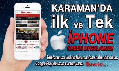Karaman'ın İlk İphone Haber Uygulaması Hayırlı Olsun