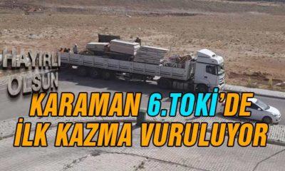 Karaman TOKİ'de İlk Kazma Vuruldu