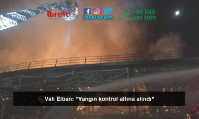 """Vali Elban: """"Yangın kontrol altına alındı"""""""