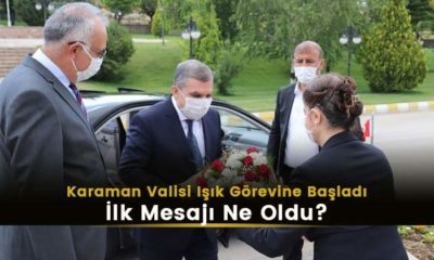 Karaman Valisi Mehmet Alpaslan Işık görevine başladı