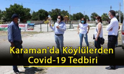 Karaman'da Köylülerden Covid-19 Tedbiri