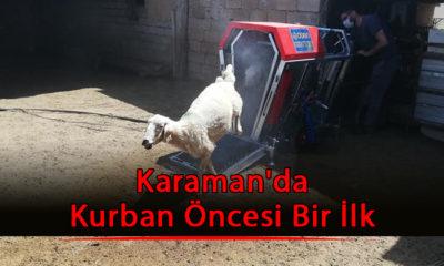 Karaman'da Kurban Öncesi Bir İlk
