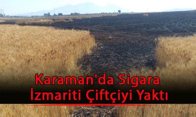 Karaman'da Sigara İzmariti Çiftçiyi Yaktı