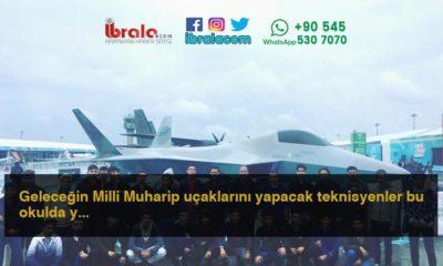 Geleceğin Milli Muharip uçaklarını yapacak teknisyenler bu okulda yetişiyor