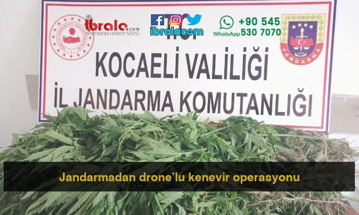 Jandarmadan drone'lu kenevir operasyonu