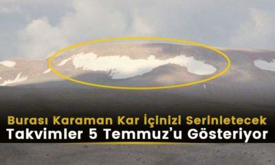 5 Temmuzda Karaman'da Kar