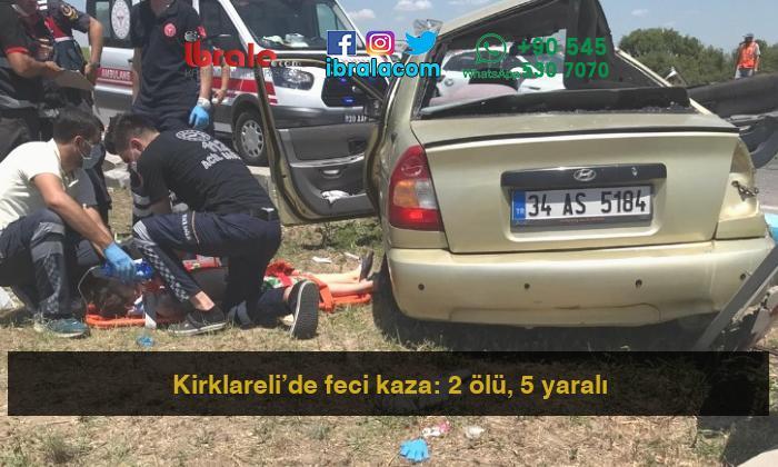 Kirklareli'de feci kaza: 2 ölü, 5 yaralı